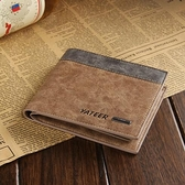 錢包 男士錢包新款磨砂皮錢夾韓版男式短款卡包學生橫皮夾【快速出貨八折鉅惠】