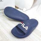 FILA 運動拖鞋 中童鞋 兒童拖鞋 防水 2S837V331 藍 整數尺碼 17-24cm【iSport愛運動】
