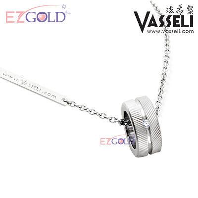 VASSELI ◤愛在倫敦◢ 鎢鋼鑽石墜(女)