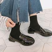 樂福鞋女2018春秋季新款低粗跟女鞋豆豆單鞋子圓頭學院風小皮鞋女 東京衣櫃