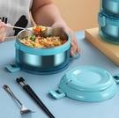 保溫飯盒 304不銹鋼保溫飯盒便攜分隔可帶湯學生大容量商用多層保溫便當盒【快速出貨八折搶購】