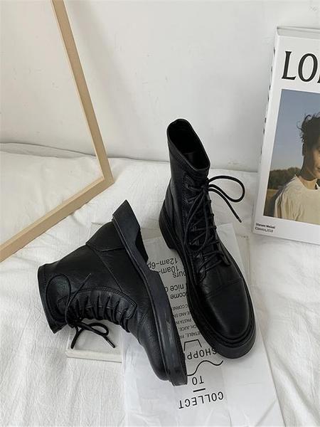 2020新款春秋單靴顯腳小馬丁女鞋潮ins秋季加絨瘦瘦短靴英倫風冬