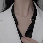 珍珠項鍊女純銀珍珠鎖骨鍊簡約氣質項鍊冷淡風項鍊【倪醬小舖】