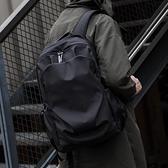 HK雙肩包男簡約書包時尚潮流休閒電腦包旅行輕便高中生大學生背包 陽光好物