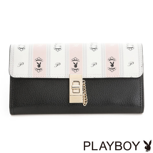 PLAYBOY- 翻蓋長夾 Sweet Girl 甜蜜粉躍兔系列-甜粉色