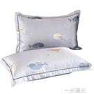 冰絲枕套夏季枕頭套單雙人學生單個兒童涼席枕芯套48x74cm一對裝  一米陽光