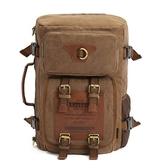 後背包-帆布可背可提多功能旅行男雙肩包3色73re3【時尚巴黎】