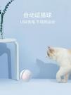 【免運】逗貓球 玩具球 寵物玩具 貓咪玩具 貓玩具 LED閃光球 USB充電 自動滾動 電動滚动球