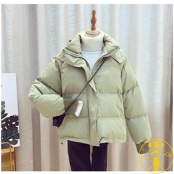 棉服羽絨女短款寬鬆面包服加厚學生棉衣冬季外套【雲木雜貨】