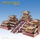 阿房宮3D立體金屬拼裝建筑模型DIY手工拼圖益智玩具創意禮品限時八九折