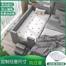 兒童床/遊戲床 單人床嬰兒床拼接大床男孩加寬床拼接床邊帶護欄拼接床軟包