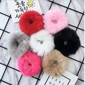 ►人造兔毛 毛毛皮筋髮圈髮飾【B5077】