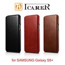 【愛瘋潮】ICARER 復古曲風 SAMSUNG Galaxy S8+ 磁吸側掀 手工真皮皮套 手機殼