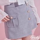 褲子 金屬排扣開衩裙片短褲-Ruby s 露比午茶