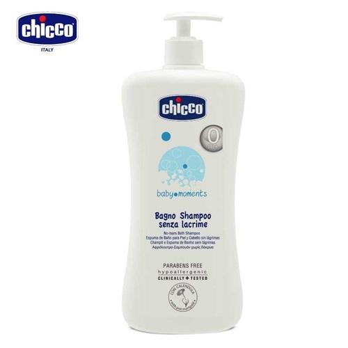 chicco-寶貝嬰兒洗髮/沐浴露-溫和不流淚配方-750ml