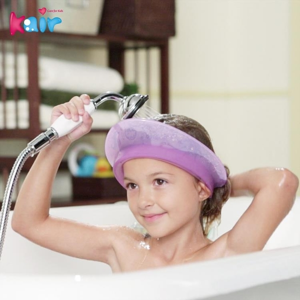 kair第一代兒童洗頭帽嬰兒硅膠氣墊式洗發帽紫色寶寶洗頭神器防水 寶貝計畫