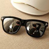 太陽鏡新款眼鏡五角星純黑色太陽鏡 ☸mousika