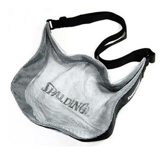 SPALDING 單顆裝 籃球袋 7號球可裝 網袋 收納袋 斯伯丁SPB5321N62 深藍色 [陽光樂活=]