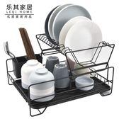 廚房瀝水架 瀝水架廚房雙層筷子盤子杯子餐具整理收納架瀝水籃晾碗架zsx 喵可可