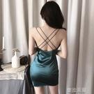 性感洋裝格格家 夜店夜場夏季新款復古修身顯瘦性感包臀低胸露背女洋裝 蜜拉貝爾