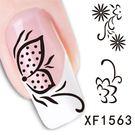水印美甲貼紙   黑白蝴蝶XF1563  指甲貼紙 DIY裝飾貼紙 想購了超級小物