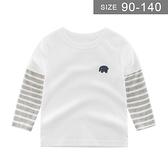 男童長袖T恤。ROUROU童裝。春秋男童中小童100%棉歐美版假2件式長袖T恤 上衣 0131-466
