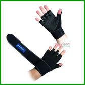 護腕重訓手套(捆帶式)(健力手套/舉重/重量訓練/健身手套/啞鈴手套/台灣製造)