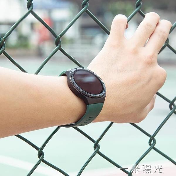 華為GT2E錶帶 WATCHGT2e專用硅膠腕帶運動橙防水智慧手環商務 一米陽光