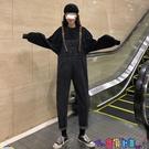 吊帶褲 春秋褲子2021年新款韓版小個子顯瘦寬鬆春裝直筒褲牛仔褲女背帶褲新品