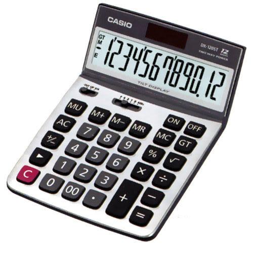 CASIO卡西歐12位數桌上型計算機(螢幕角度可調整) DX-120ST