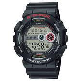 CASIO 卡西歐 G-SHOCK 高亮度LED運動錶-黑 GD-100-1ADR / GD-100-1A