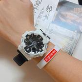 潮流ulzzang手錶男女學生韓版簡約休閒情侶電子錶時尚運動防水白 名稱家居館