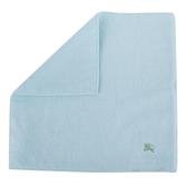 BURBERRY素面100%棉質方巾(湖水綠)081008-6