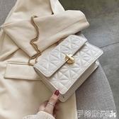 鍊條包時尚繡線小包包女包2020夏天新款潮流行百搭鍊條斜背包網紅小方包 伊蒂斯