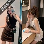 aubabe 黑色打底洋裝女春夏新款包臀裙修身顯瘦無袖背心裙 ATF「錢夫人小鋪」