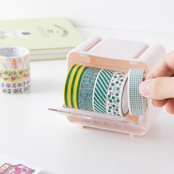 【BlueCat】桌面可組裝疊高紙膠帶掀蓋收納盒