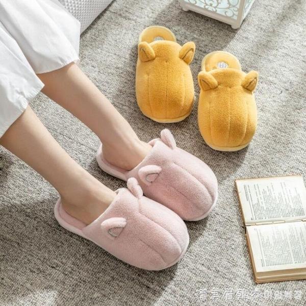 秋冬季貓爪棉拖鞋女家居家可愛毛絨室內情侶卡通家用保暖毛毛鞋男 美眉新品