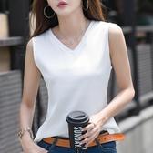 無袖t恤女雪紡吊帶上衣胖mm大碼內搭夏背心寬鬆外穿遮肚打底衫潮 韓國時尚週
