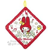 〔小禮堂〕美樂蒂 可掛式棉質擦手巾《紅.花朵》33x33cm.毛巾 4992272-67062
