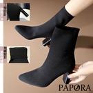 PAPORA基本款素面高跟靴KK9333黑色