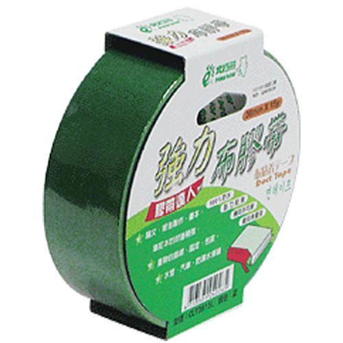 【奇奇文具】北極熊 CLT3615G綠色布紋膠帶36mm×15yds (8卷)
