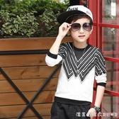 男童衛衣長袖T恤秋裝2020兒童t恤打底衫韓版寶寶上衣男孩洋氣童裝 漾美眉韓衣