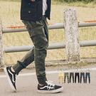軍裝風RN-096徽章素面慢跑褲縮口褲【N9949J】