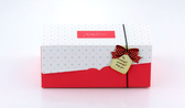 紅色20cm 附吊卡+船盒+彈性繩 生乳捲蛋糕盒【C024】瑞士捲盒 蛋捲盒 紙盒 包裝 彌月禮盒