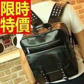 後背包-氣質韓風清新皮革情侶款-雙肩包-2款59ab41【巴黎精品】