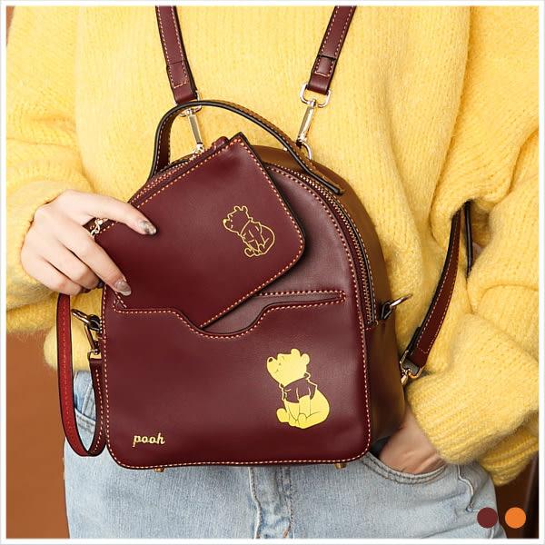 後背包-迪士尼焦糖蜂蜜小熊維尼系列人物多背法後背包-共2色-A12121759-天藍小舖
