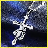 【伊人閣】十字架 十二星座十字架項鍊吊墜韓版人掛墜個性飾品掛飾