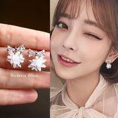 925純銀針  韓國優雅氣質 蝴蝶結冰花 耳環-維多利亞181119