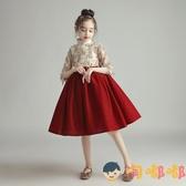 兒童公主裙蓬蓬紗女童洋裝高端禮服主持人演出服花童【淘嘟嘟】