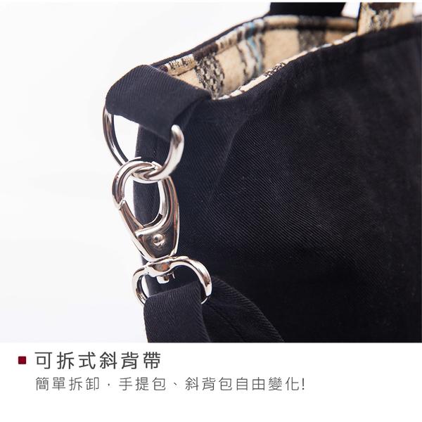 Kiro貓‧小黑貓 磁扣 手提/斜背/兩用包/水桶包【810066】